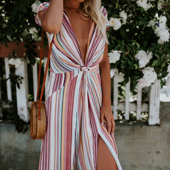 Sunset Sweetie Striped Sundress